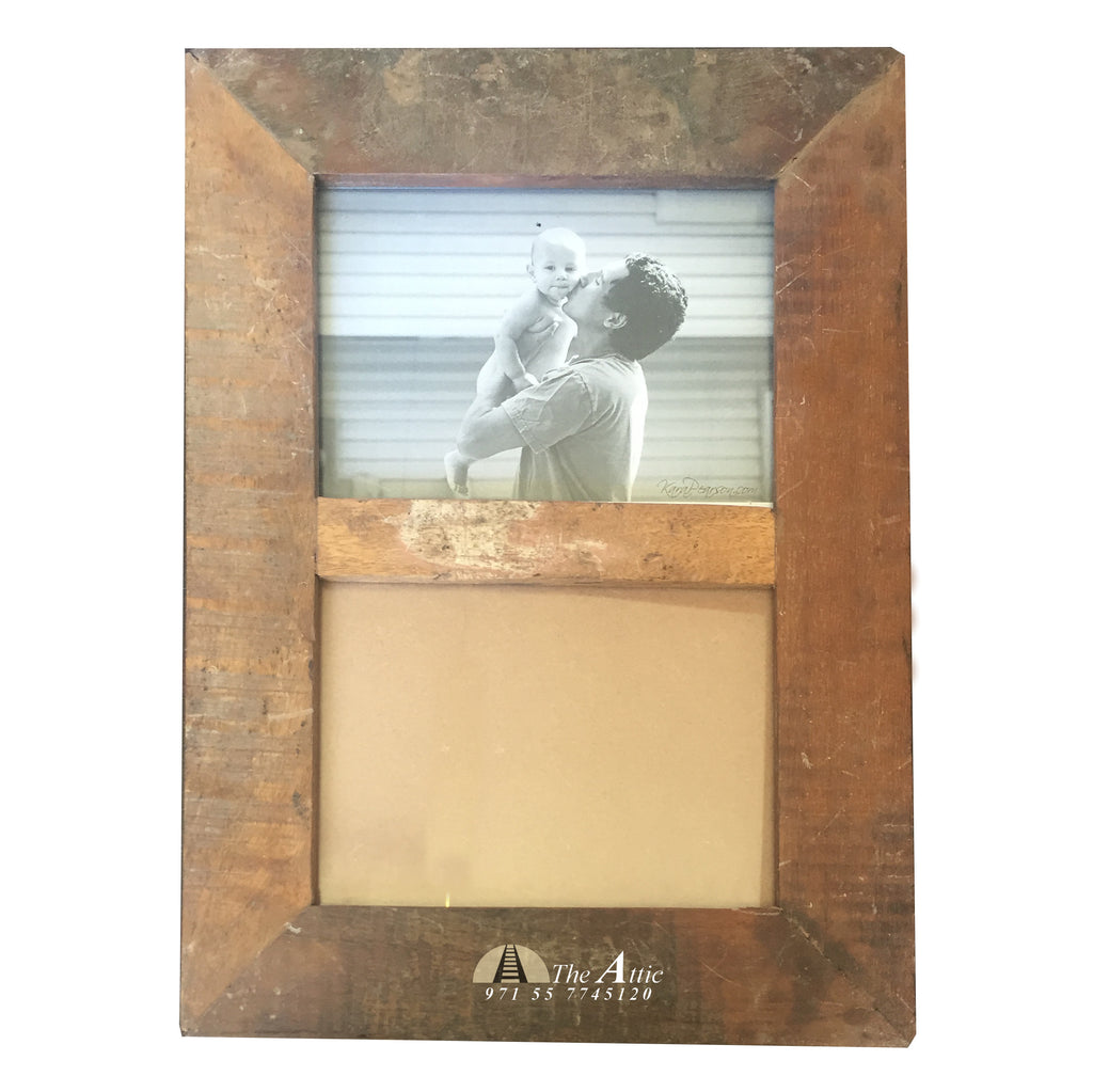 Reclaimed Wood Photo Frame 2 In 1 5x7 Inch The Attic