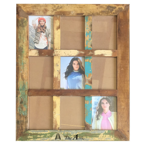 Reclaimed Wood Photo Frame, 9-in-1, 4in x6in - The Attic Dubai