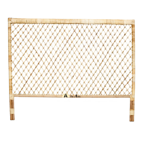 Diamond Rattan Headboard, Rattan Wicker Furniture - The Attic Dubai