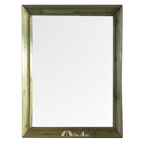 Vintage Wall Mirror, Olive Green