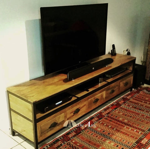 Attkan 5-Drawer Industrial TV Unit