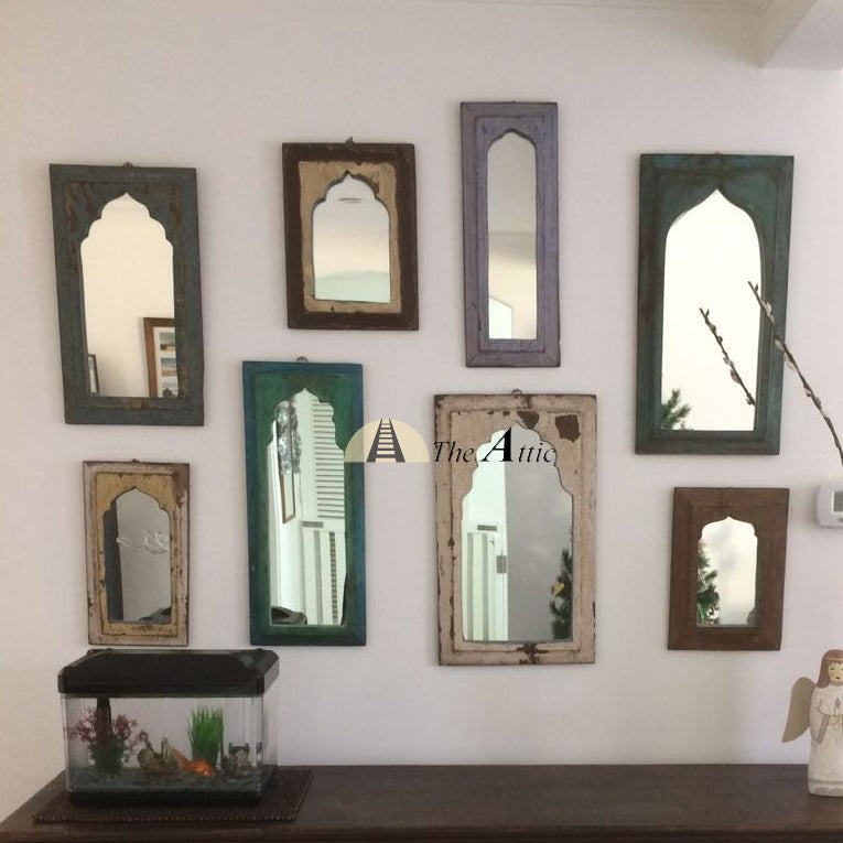 Small Antique Mirror - The Attic Dubai