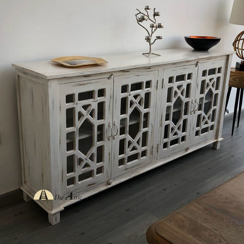 Chippendale Glass Door Buffet Sideboard