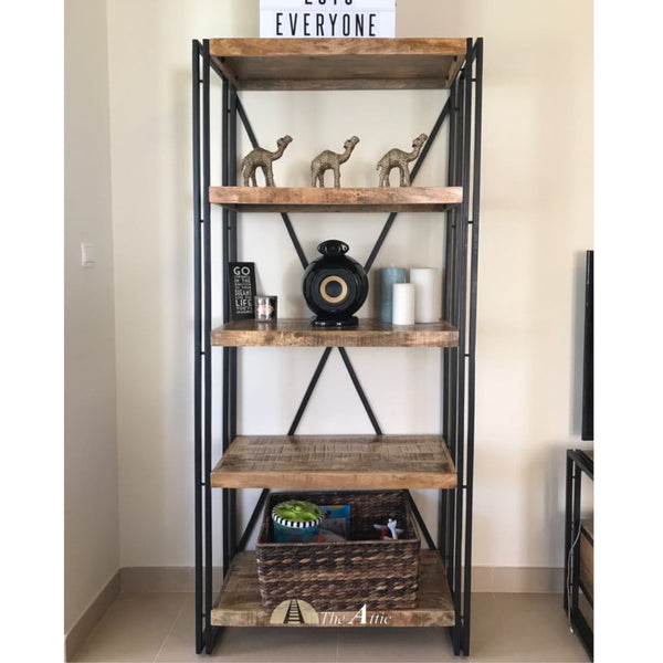 Industrial Double Frame Bookshelf
