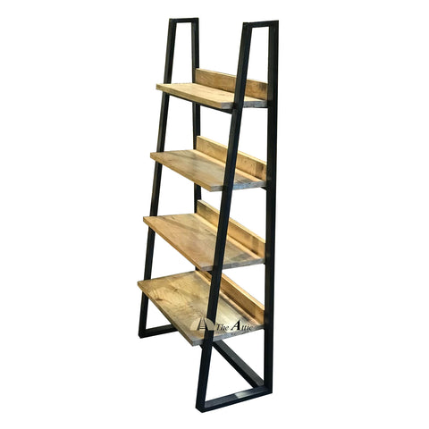 Industrial Ladder Shelf Mango Wood Solid Wood Iron Attic Dubai