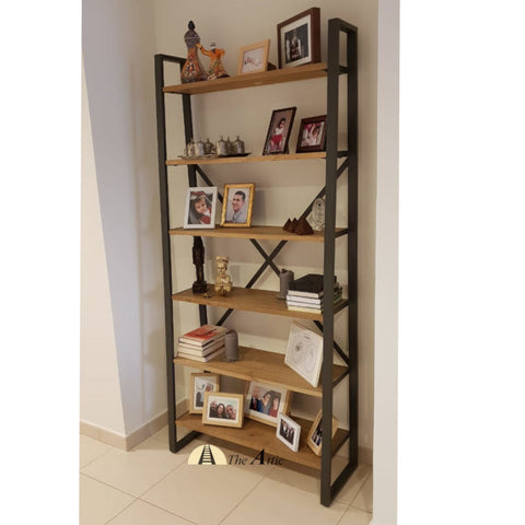 Gaia Reclaimed Timber Industrial Ladder X-Shelf