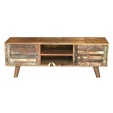 Reclaimed Wood Mid-Century TV Unit, 150cm
