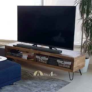 Hairpin Leg TV Unit Media Center Rustic Industrial Console