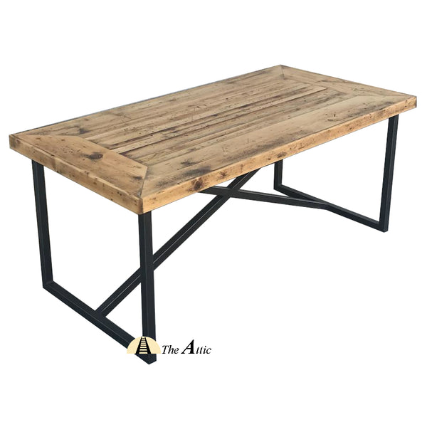 Rustic Industrial X Frame Dining Table