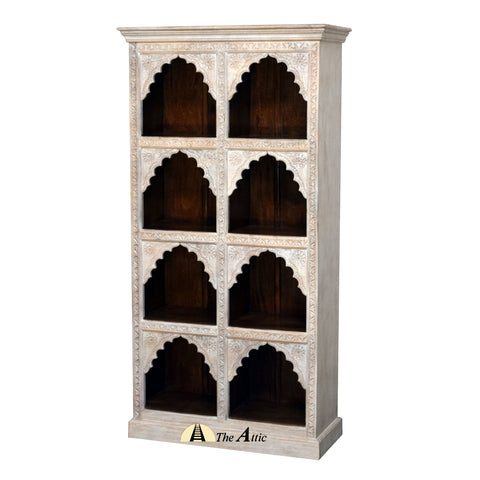 Carved Ornate Wood Bookshelf