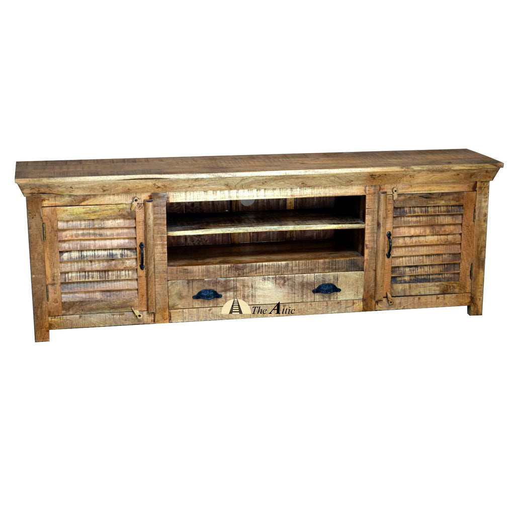 Rustic Shutter Door TV Unit, 180cm