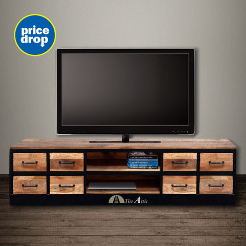 Attkan 8-Drawer Industrial TV Unit