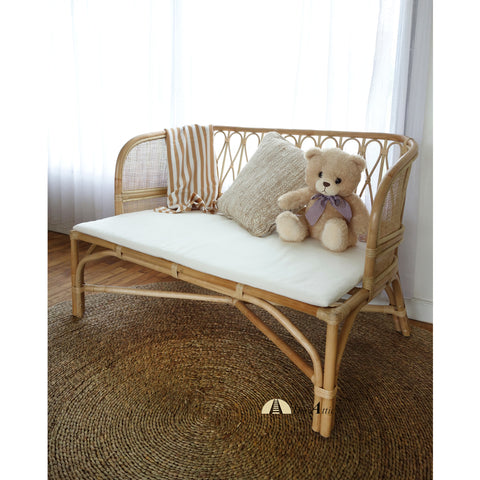 Katie Natural Rattan Kids Bench / Day Bed , Bohemian Nursery Furniture - The Attic Dubai