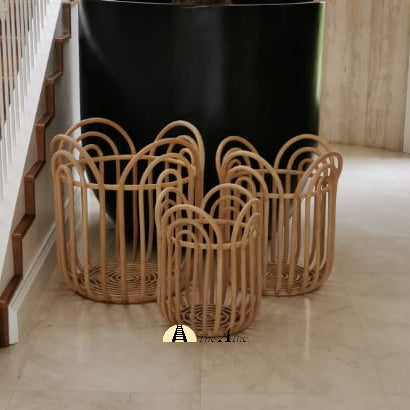 Lotus Rattan Basket - theattic-dubai.com