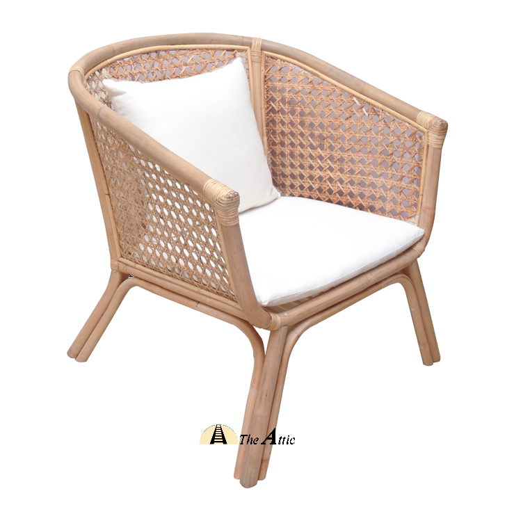 Madison Rattan Lounge Chair, Arm Chair, Rattan Wicker Furniture - TheAttic-Dubai.com