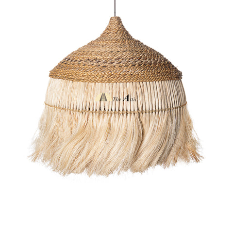Mahala Abaca Grass Hanging Lamp, Boho Pendant - The Attic Dubai