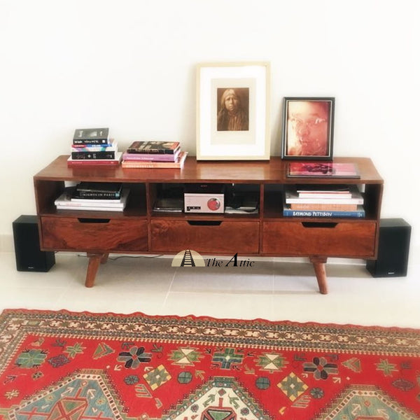 Mid-Century 3-Drawer TV Unit modern media console