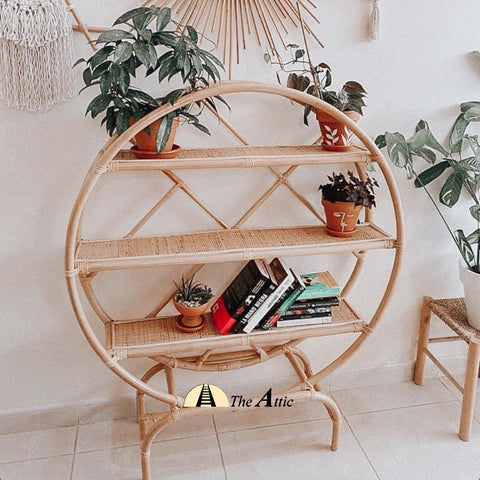 Mila Round Rattan Shelf - TheAttic-Dubai.com