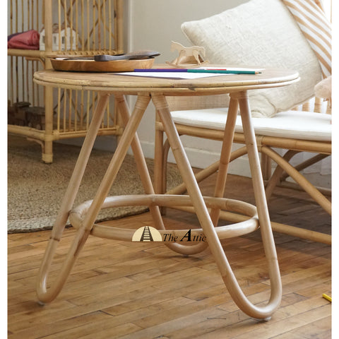 Mini Bali Rattan Round Table, Natural, Rattan Furniture, Nursery Furniture - The Attic Dubai