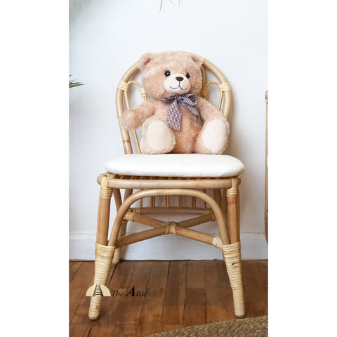 Megan natural brown rattan kids chair, Bohemian Nursery Furniture - The Attic Dubai