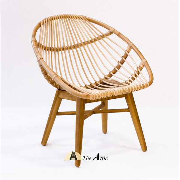 Moka Rattan Round Tub Chair; Natural Rattan Furniture - TheAttic-Dubai.com