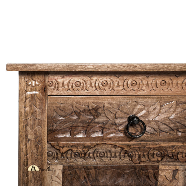 Carved 4-Door 4-Drawer Buffet Sideboard - The Attic Dubai