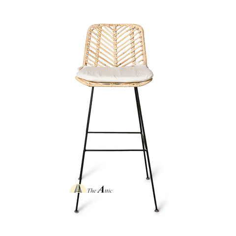 Osaka Rattan Bar Chair, Bar Stool, Rattan Wicker Furniture - The Attic Dubai