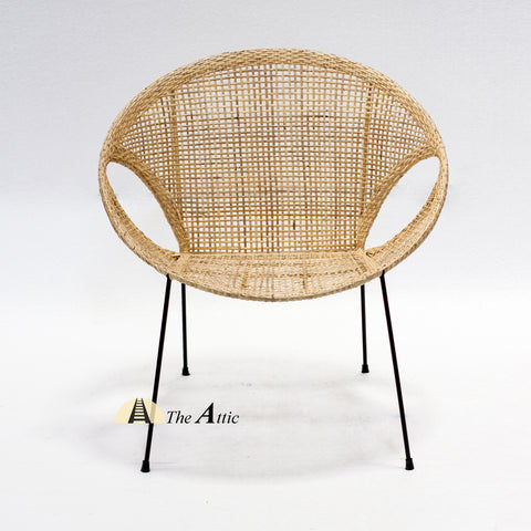 Oslo Wicker Rattan Round Tub Chair; Natural Rattan Wicker Furniture - The Attic Dubai