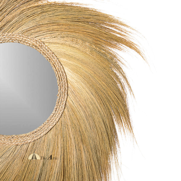 Pali Large Boho Grass Wall Mirror - The Attic Dubai