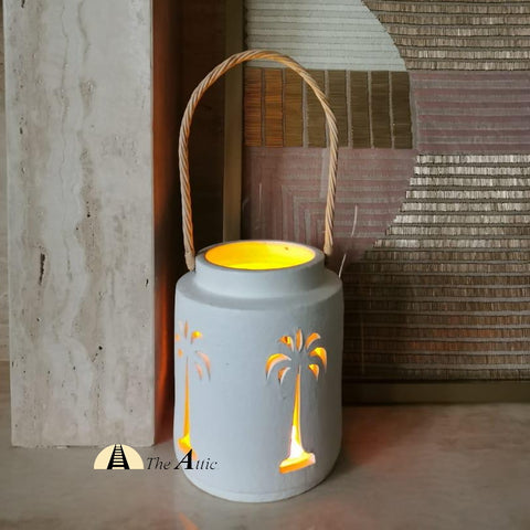 White Palm Patio Lantern - theattic-dubai.com