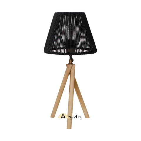 Prague Rattan Twisted Tripod Table Lamp