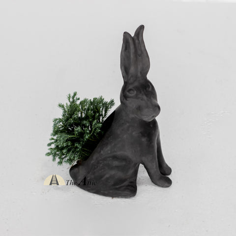 Terracotta Rabbit Planter, Grey - theattic-dubai.com