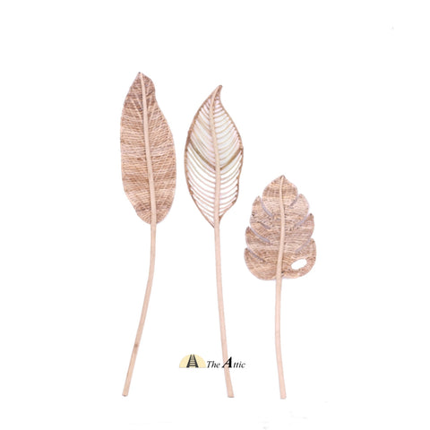 Woven Rattan Leaves, Rattan Leaf Decor, Bohemian Boho Tropical Deco - The Attic Dubai