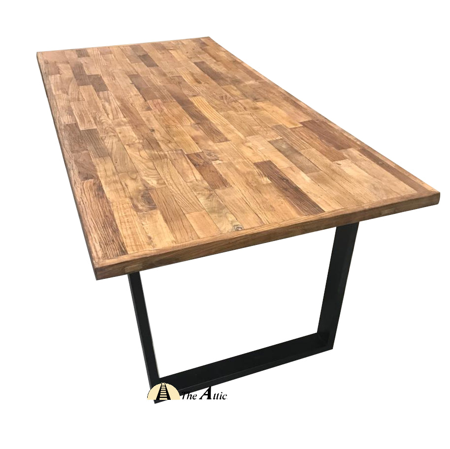 Reclaimed Weathered Elm Harbour Dining Table - 3