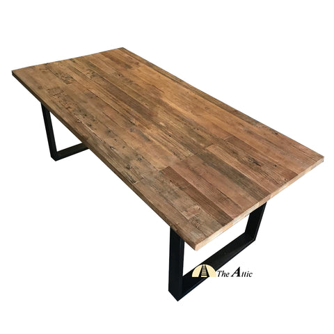 Industrial Reclaimed Elm Dining Table, 200cm - The Attic Dubai