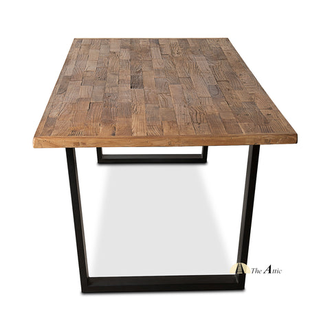 Industrial Reclaimed Elm Dining Table, 200cm - theattic-dubai.com