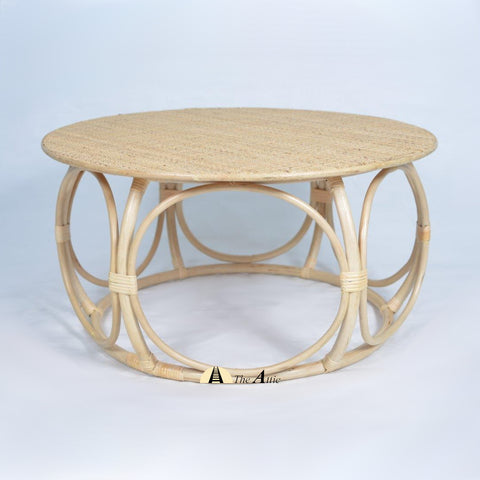 Rumy Rattan Round Coffee Table, Rattan Furniture - The Attic Dubai