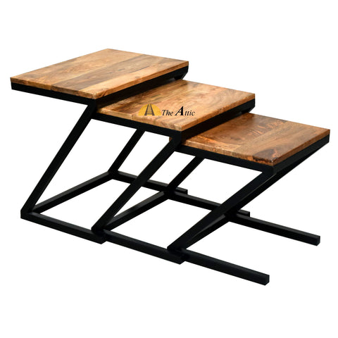 Z-shape Industrial Nesting Side Tables The Attic Dubai