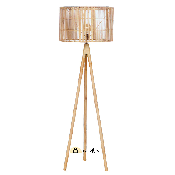 Seattle Rattan Tripod Floor Lamp