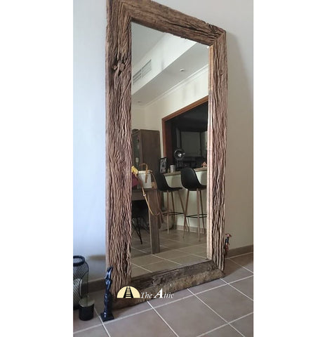Sleeper Wood Leaning Mirror
