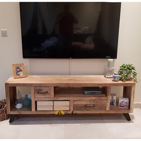 Rustic S-Leg TV Unit, 180cm