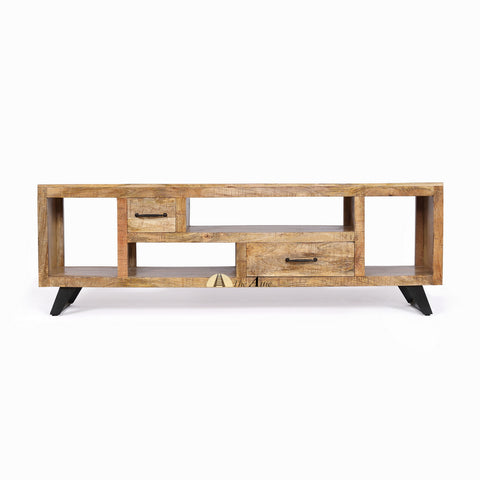 Industrial Rustic S-Leg TV Unit media entertainment center