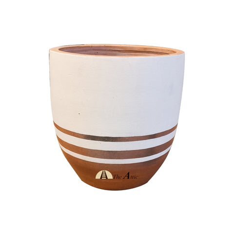 Striped Terracotta Pot