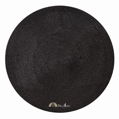 Round Pandan Area Rug, Black - TheAttic-Dubai.com