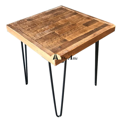 Reclaimed Pine Harbour Hairpin Side Table - The Attic Dubai