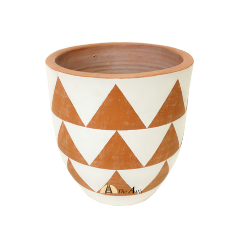 Triangles_Terracotta_Pot - The Attic Dubai