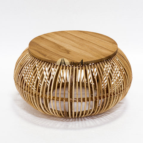 Ubud Natural Rattan Round Coffee Table