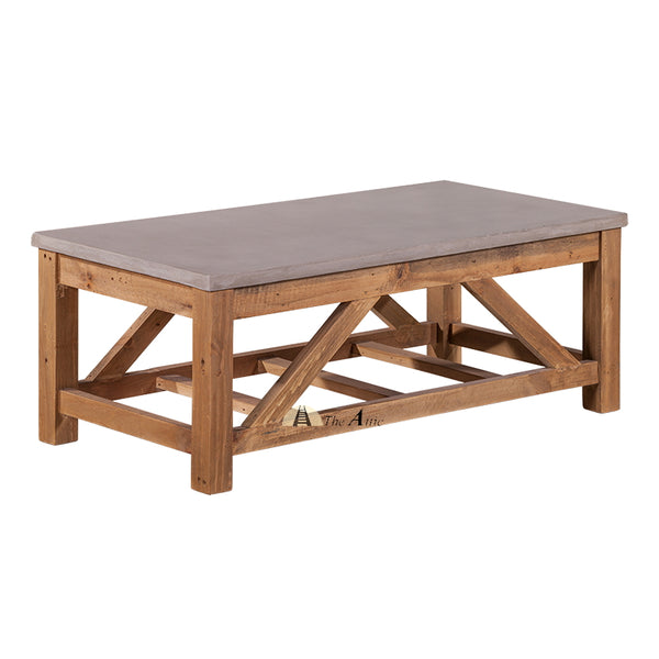 Maximus Concrete and Wood Coffee Table