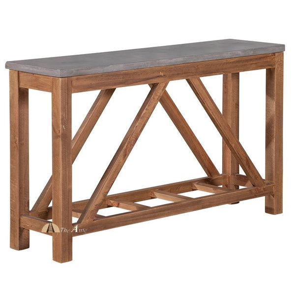 Maximus Concrete and Wood Console