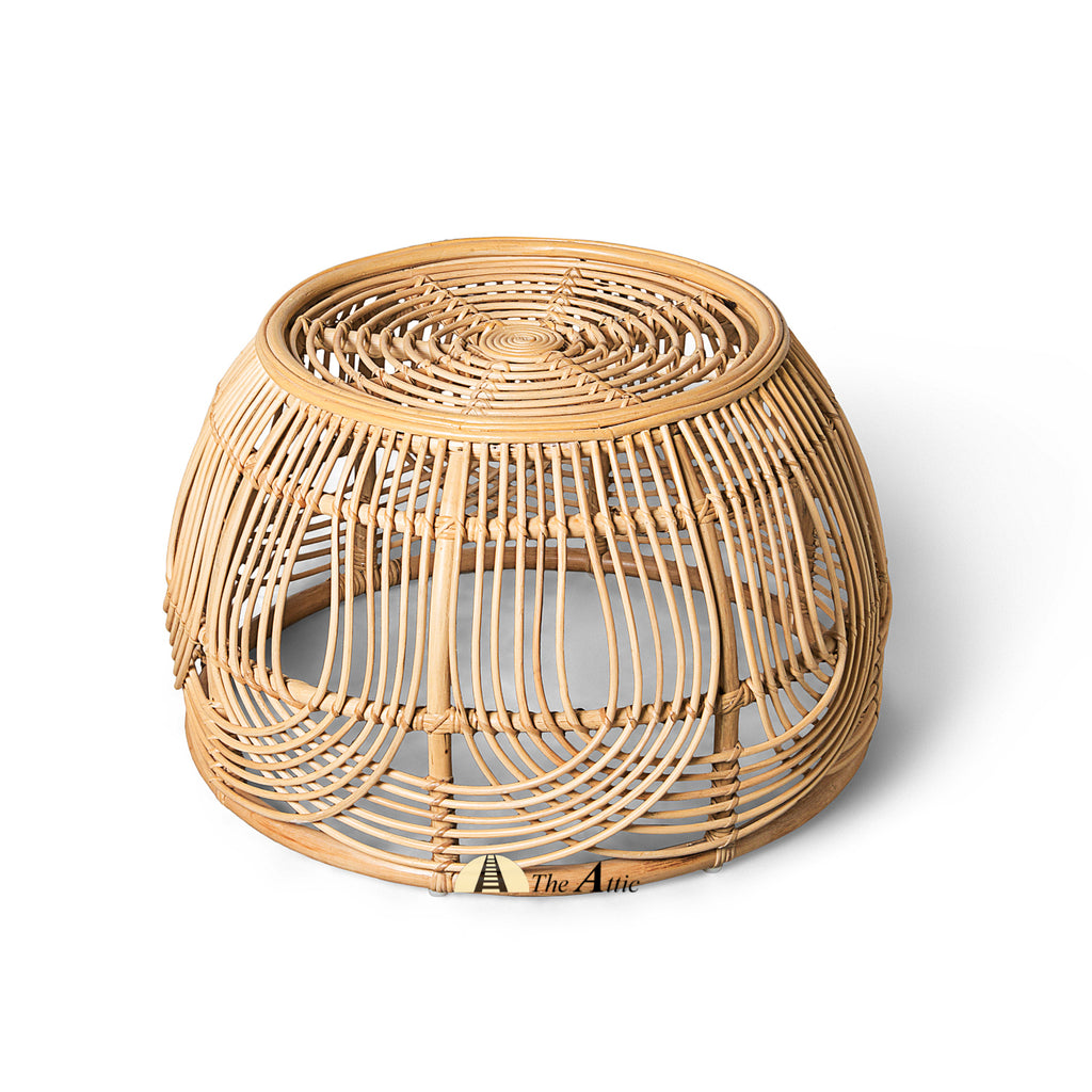 Victory Natural Rattan Round Coffee Table, Rattan Furniture - The Attic Dubai